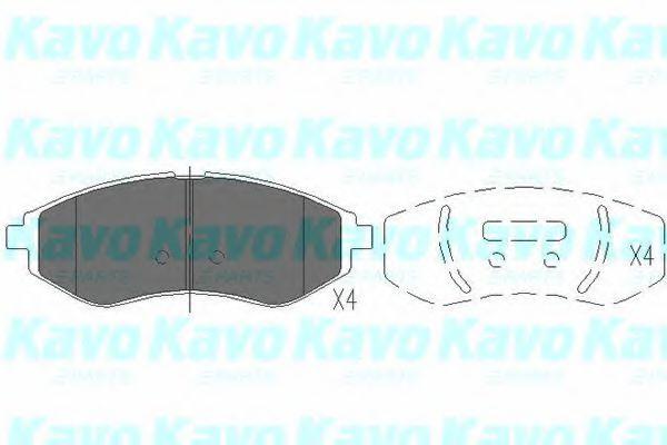 KAVO PARTS CHEVROLET Тормозные колодки передн. Aveo KAVOPARTS KBP1003
