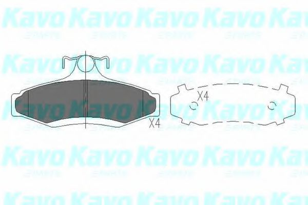 KAVO PARTS DAEWOO Тормозные колодки задн.Nubira, Leganza KAVOPARTS KBP1006