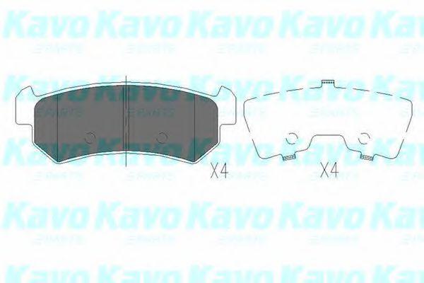 Тормозные колодки дисковые  арт. KBP1007