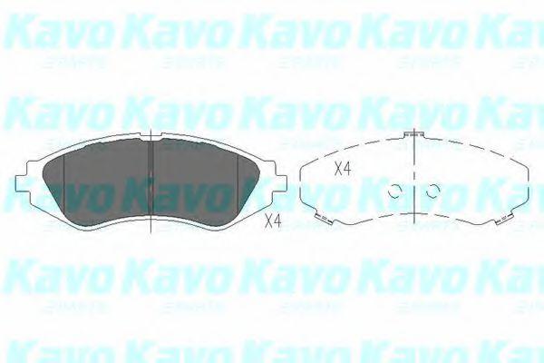 KAVO PARTS CHEVROLET Тормозные колодки передн.Lacetti, Epica 2.0 KAVOPARTS KBP1008