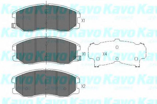 KAVO PARTS CHEVROLET Тормозные колодки передн.Captiva,Opel Antara 05- KAVOPARTS KBP1009