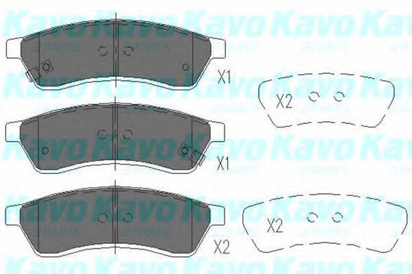 KAVO PARTS CHEVROLET Тормозные колодки задн.Epica KAVOPARTS KBP1012