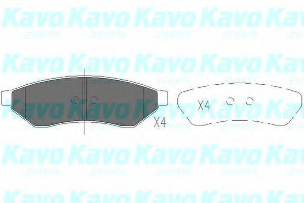 Тормозные колодки дисковые  арт. KBP1015