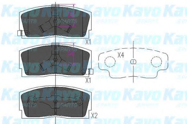 KAVO PARTS DAIHATSU Тормозные колодки передн.Applause 89- KAVOPARTS KBP1501