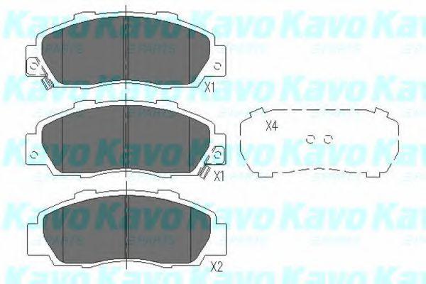 Тормозные колодки дисковые  арт. KBP2002