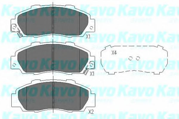 KAVO PARTS HONDA Тормозные колодки передн. Accord 93- KAVOPARTS KBP2002