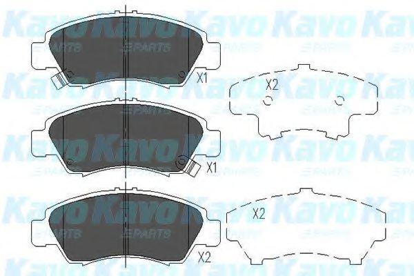 KAVO PARTS HONDA Тормозные колодки передн.Civic 88- KAVOPARTS KBP2004