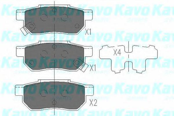 Тормозные колодки дисковые  арт. KBP2007