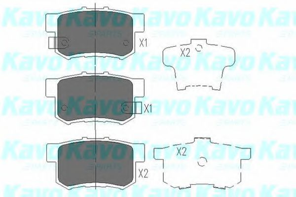 KAVO PARTS HONDA Тормозные колодки задн.Civic VI,Legend KAVOPARTS KBP2008