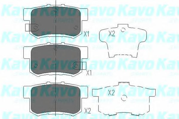 KAVO PARTS HONDA Тормозные колодки задн.Accord 03-,CR-V II,Stream 01- KAVOPARTS KBP2009