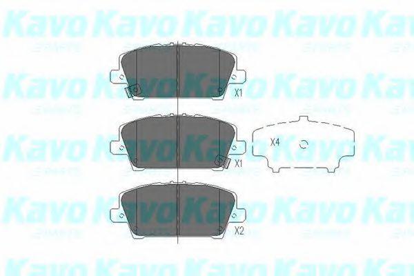 KAVO PARTS HONDA Тормозные колодки передн.Civic 06- KAVOPARTS KBP2013