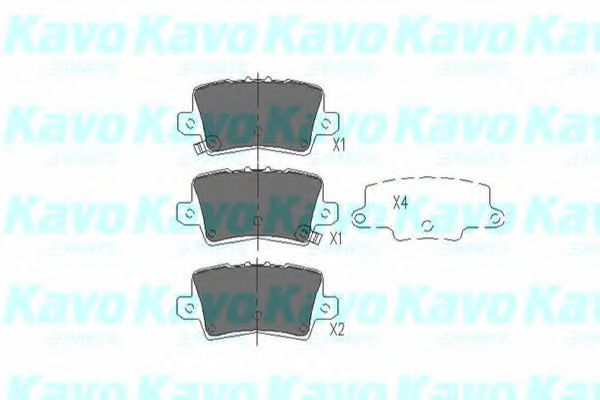 KAVO PARTS HONDA Тормозные колодки задн.Civic VIII,CR-V III,IV 05- KAVOPARTS KBP2014