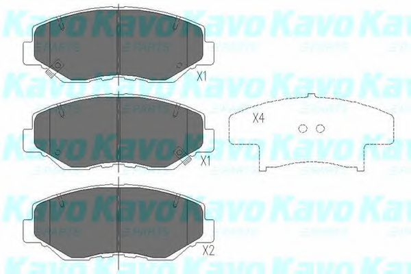 KAVO PARTS HONDA Тормозные колодки передн.CR-V II 2.0 02- KAVOPARTS KBP2034