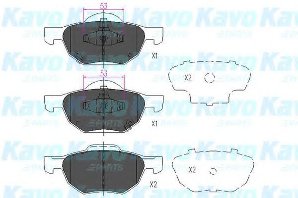KAVO PARTS HONDA Тормозные колодки передн.Accord 03- KAVOPARTS KBP2036