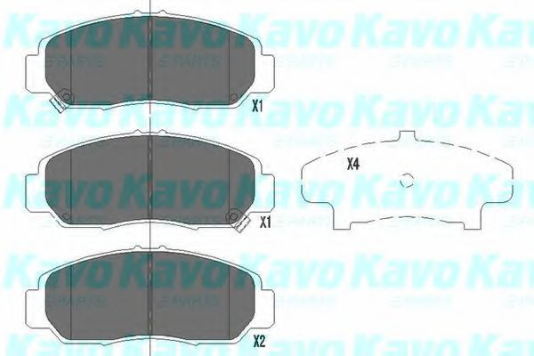 KAVO PARTS HONDA Тормозные колодки передн.FR-V, Legend 05- Stream 01- KAVOPARTS KBP2037