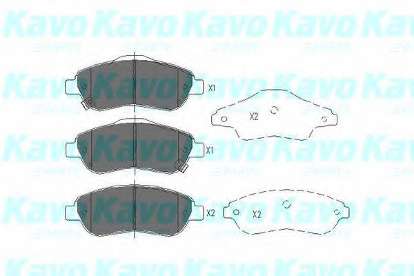 KAVO PARTS HONDA Тормозные колодки передн. CR-V III,IV 07- KAVOPARTS KBP2041
