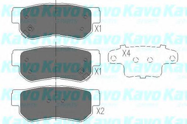 KAVO PARTS HYUNDAI Тормозные колодки задн.Tucson,Sonata,Santa Fe 01-,Kia Magenti KAVOPARTS KBP3005