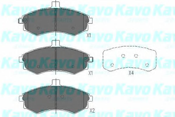KAVO PARTS HYUNDAI Тормозные колодки передн.Elantra,Matrix KAVOPARTS KBP3006
