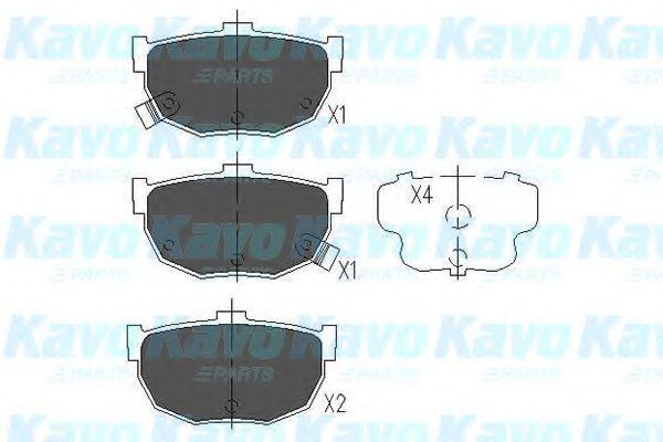 Тормозные колодки дисковые  арт. KBP3007