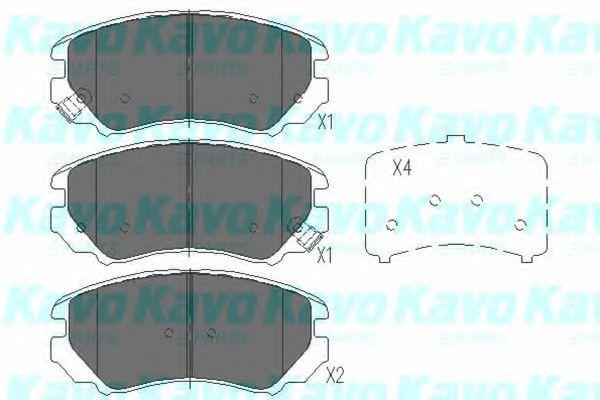 KAVO PARTS HYUNDAI Тормозные колодки перед. Sonata,Tucson,KIA Magentis,Soul,Spor KAVOPARTS KBP3008