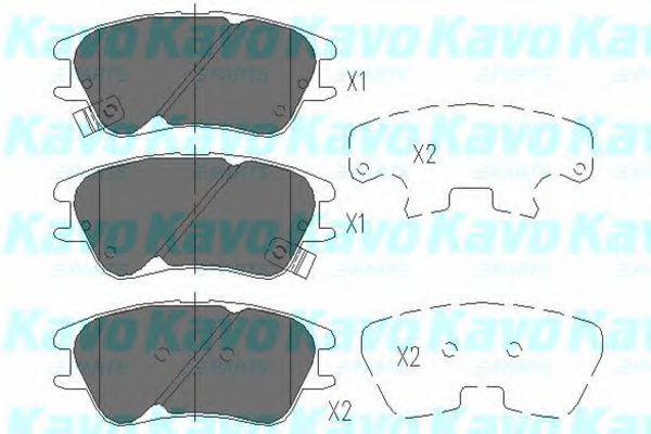 KAVO PARTS HYUNDAI Тормозные колодки передн.Atos 99- KAVOPARTS KBP3009