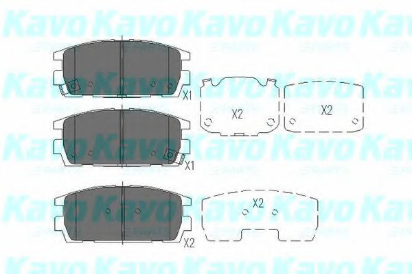 KAVO PARTS HYUNDAI Тормозные колодки задн.Terracan 01- KAVOPARTS KBP3017