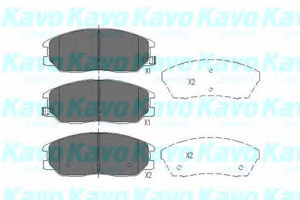 KAVO PARTS HYUNDAI Тормозные колодки передн.XG 350,SsangYong 04- KAVOPARTS KBP3021