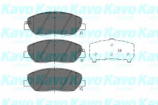 KAVO PARTS HYUNDAI Тормозные колодки передн.Santa Fe, KIA Carnival KAVOPARTS KBP3023