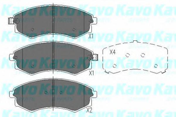 KAVO PARTS KIA Тормозные колодки передн.Magentis 01- KAVOPARTS KBP3029