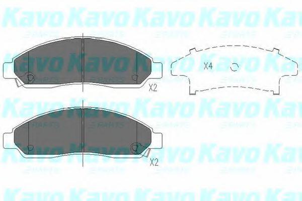 KAVO PARTS ISUZU Тормозные колодки передн.GREAT WALL Hover 06-, ISUZU D-Max 2,5D KAVOPARTS KBP3513