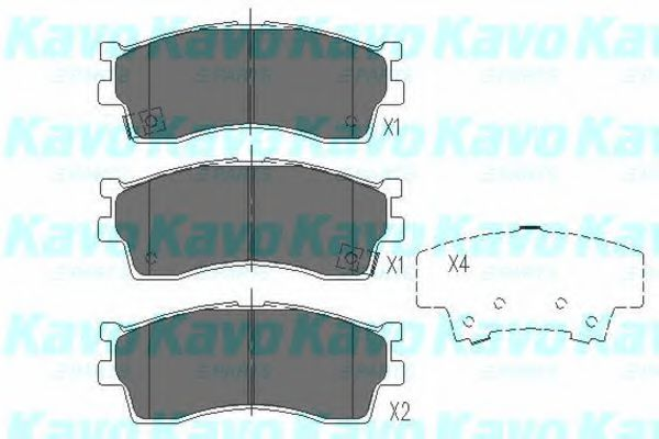 KAVO PARTS KIA Тормозные колодки передн.Carens,Clarus 1,8i 16V/2,0i 16V KAVOPARTS KBP4002