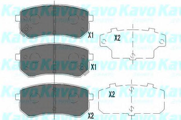 KAVO PARTS HYUNDAI Тормозные колодки задн.i10 08-,Kia Picanto 04- KAVOPARTS KBP4005