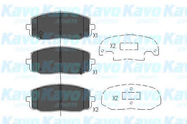 KAVO PARTS HYUNDAI Тормозные колодки передн. i10, KIA Picanto (без ESP) KAVOPARTS KBP4006