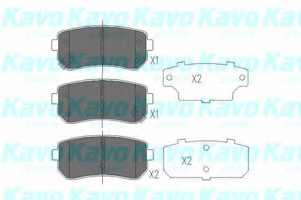 Тормозные колодки дисковые  арт. KBP4007