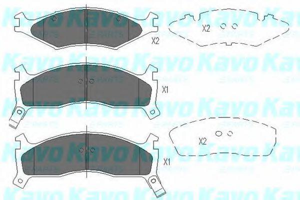 KAVO PARTS KIA Тормозные колодки передн.Sportage 94- KAVOPARTS KBP4008