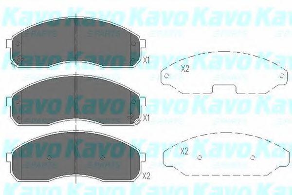 KAVO PARTS KIA Тормозные колодки передн.Pregio,Carnival 99- KAVOPARTS KBP4012