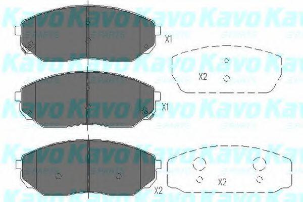 KAVO PARTS KIA Тормозные колодки передн. Sorento 02- KAVOPARTS KBP4014