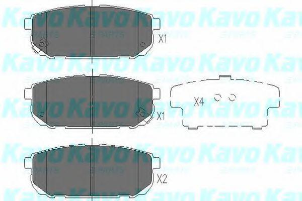 KAVO PARTS KIA Тормозные колодки задн.Sorento 02- KAVOPARTS KBP4015