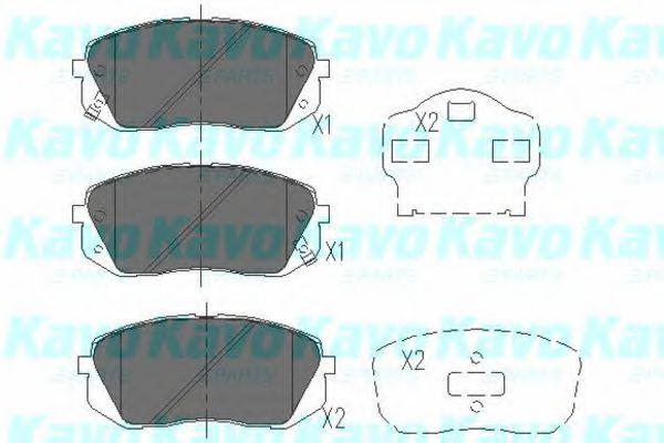 KAVO PARTS HYUNDAI Тормозные колодки передн.Kia Carens III,Sportage,ix35,55 05- KAVOPARTS KBP4018