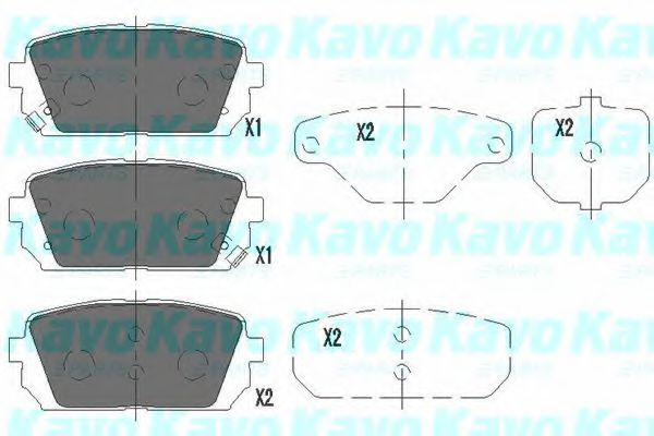 KAVO PARTS KIA Тормозные колодки задн.Carens 06- KAVOPARTS KBP4019
