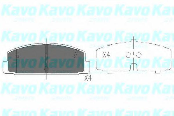 KAVO PARTS MAZDA Тормозные колодки задн 323,626, RX-7 KAVOPARTS KBP4506