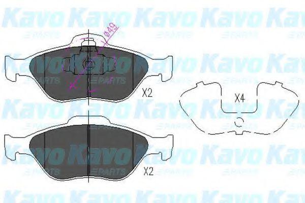 KAVO PARTS FORD Тормозные колодки передн. Fiesta, Fusion 02- KAVOPARTS KBP4545