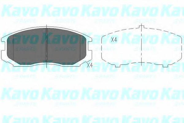 Тормозные колодки дисковые  арт. KBP5505