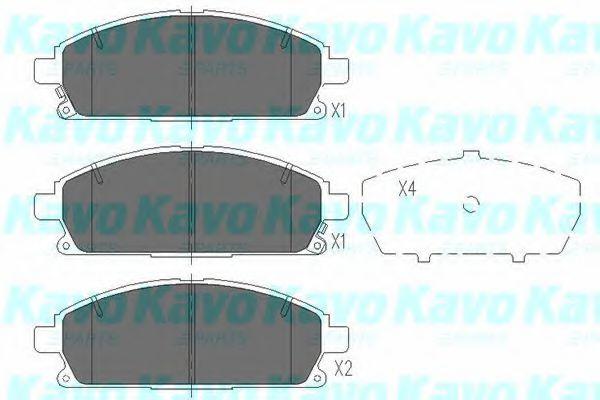 Тормозные колодки дисковые  арт. KBP6515