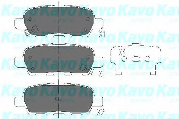 Тормозные колодки дисковые  арт. KBP6517