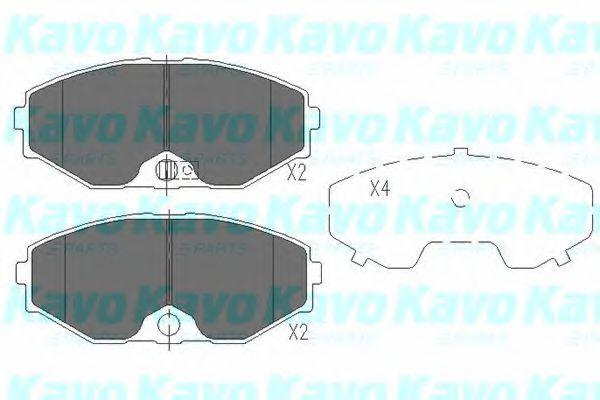 Тормозные колодки дисковые  арт. KBP6553