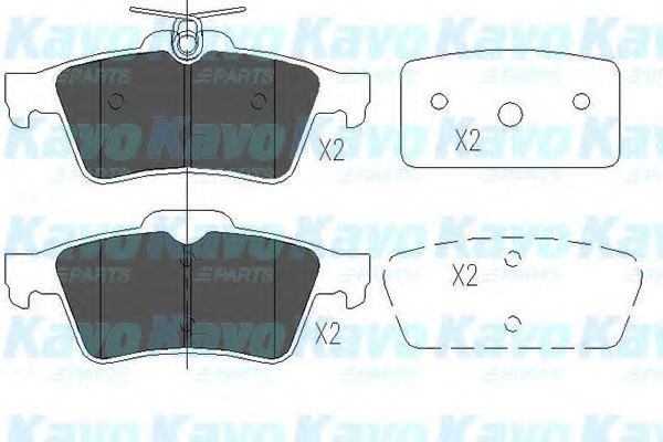 KAVO PARTS FORD Тормозные колодки задн.Cadillac,C-Max,Focus 11- KAVOPARTS KBP6554