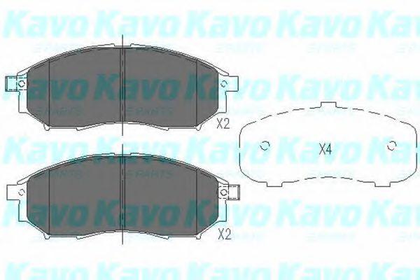 Тормозные колодки дисковые  арт. KBP6567