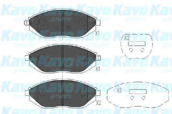 KAVO PARTS CHEVROLET Тормозные колодки передн.Spark 10- KAVOPARTS KBP1017