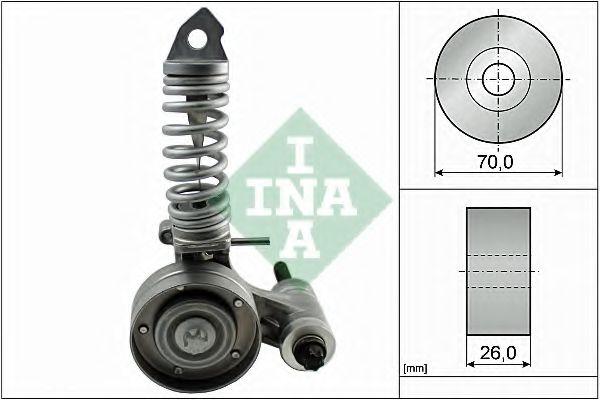 Роликовий модуль натягувача ременя INA арт. 533008530